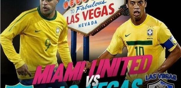 Cartaz que divulgou o jogo amistoso de 2016 em Las Vegas