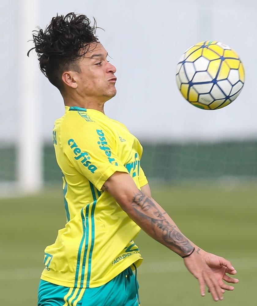 Atacante Artur treina no time profissional do Palmeiras