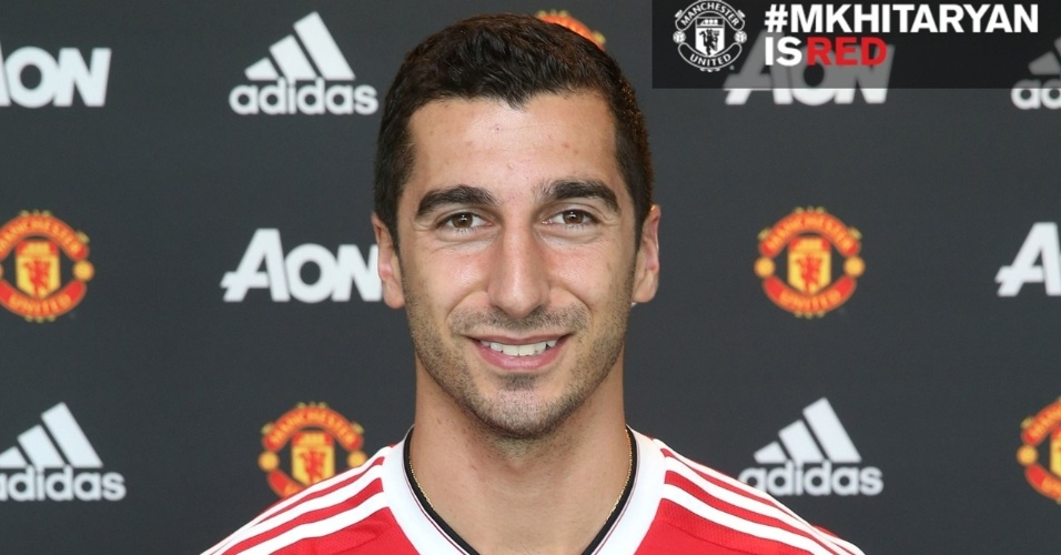 Mkhitaryan vestiu a camisa do Manchester United