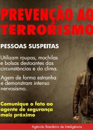 Cartaz da campanha antiterrorismo nas redes sociais - Reprodução/Facebook/Abin