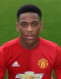 Martial, atacante do Manchester United