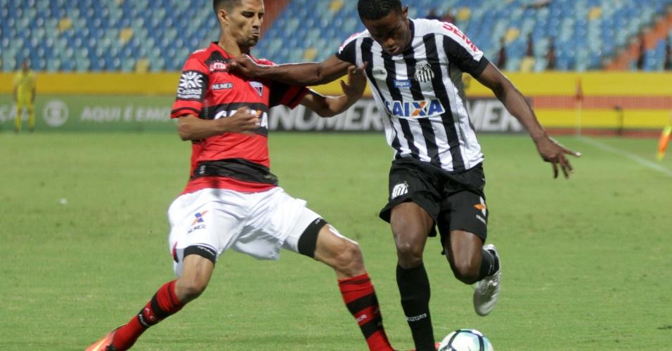 Atlético-GO e Santos se enfrentaram no Estádio Olímpico de Goiânia 0dd637d10f489