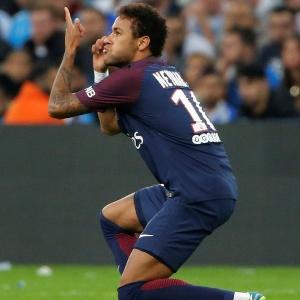 Neymar foi alvo de insultos na partida do PSG contra o Olympique - Jean-Paul Pelissier/Reuters