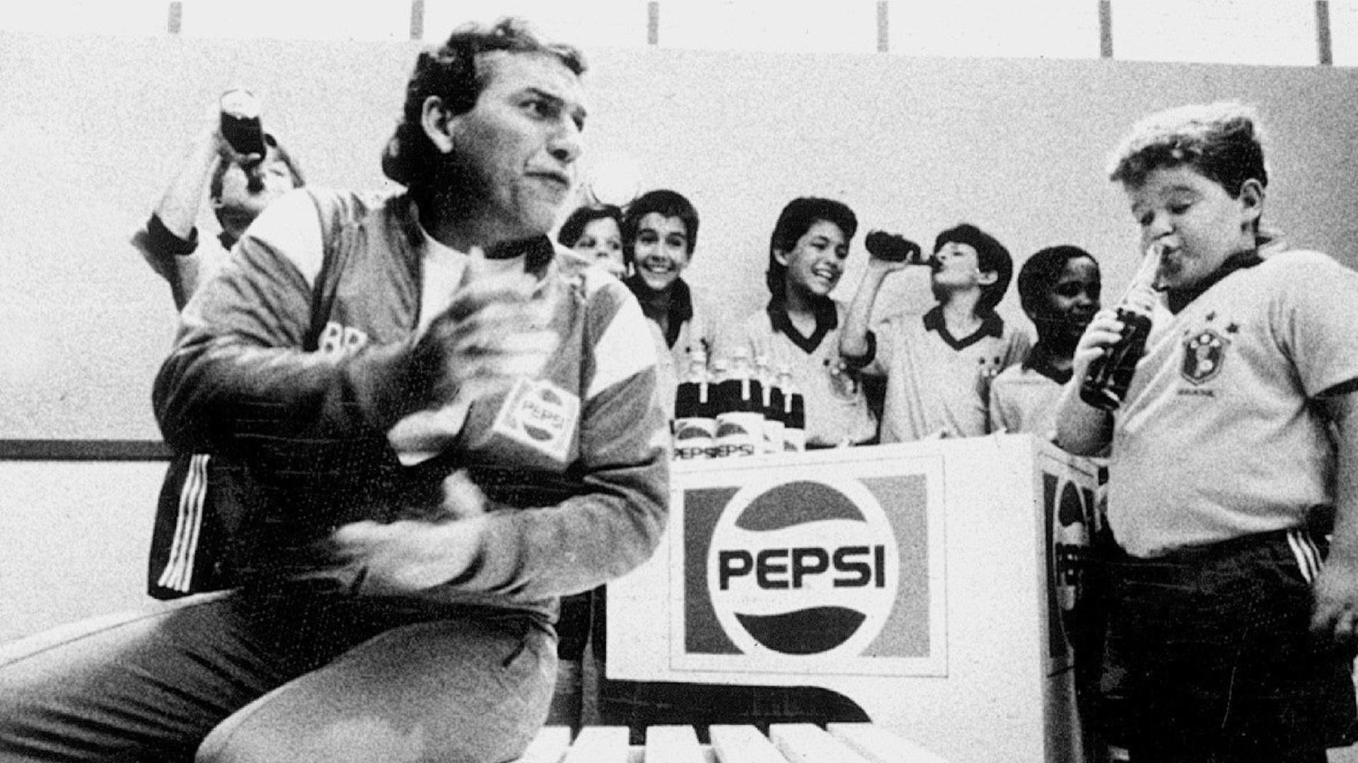 Sebastião Lazaroni foi garoto-propaganda do patrocinador da seleção brasileira na Copa de 1990