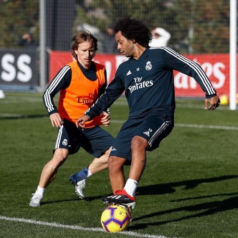Marcelo não enfrentará o Huesca, apesar de ter participado dos treinos durante a semana