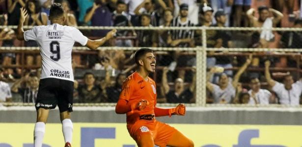 Goleiro corintiano Diego comemora pênalti defendido na disputa contra o Red Bull - Rodrigo Gazzanel/Ag. Corinthians