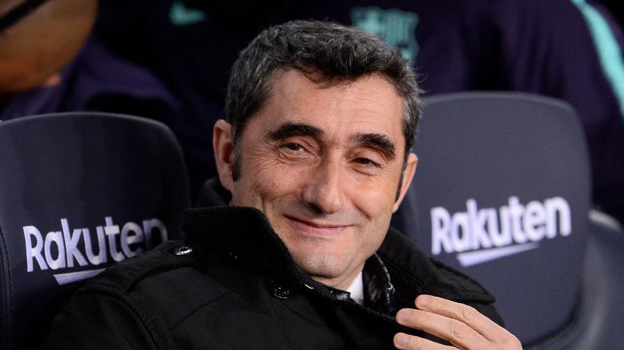Valverde renovou com o Barcelona por mais uma temporada - JOSEP LAGO/AFP