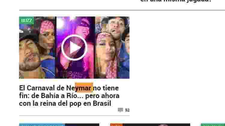 Neymar Espanha - Reprodução - Reprodução