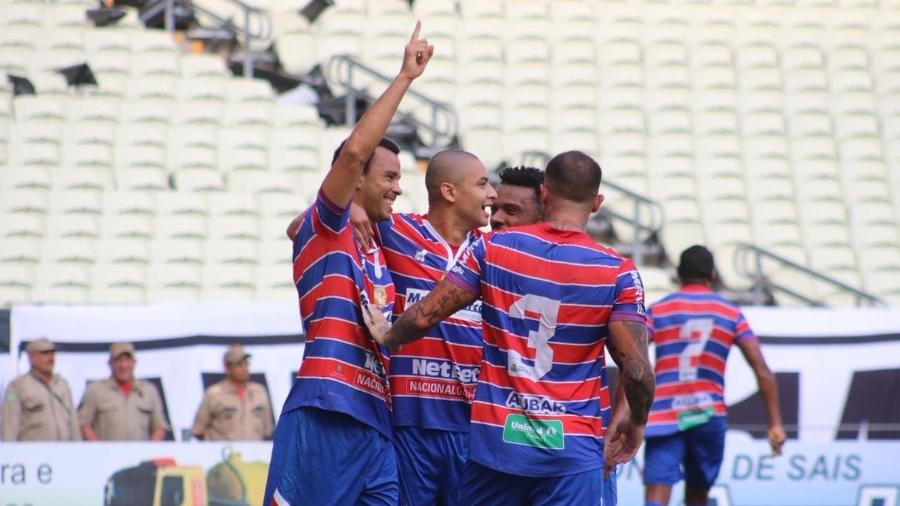 Roger Carvalho comemora gol do Fortaleza sobre o Ceará - Leonardo Moreira / Fortaleza EC