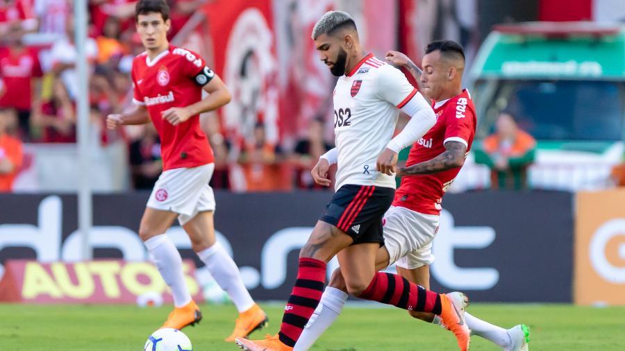 Flamengo x Internacional, no Maracanã, é um dos jogos desta quarta-feira, pela 21ª rodada - Jeferson Guareze/Agif
