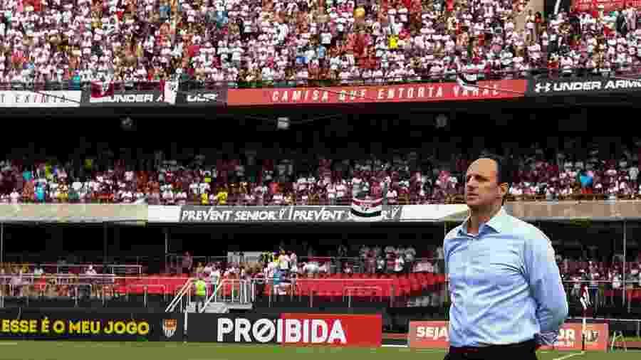 Rogério Ceni em sua primeira partida como técnico do São Paulo no Morumbi, em 2017 - Marcello Zambrana/AGIF