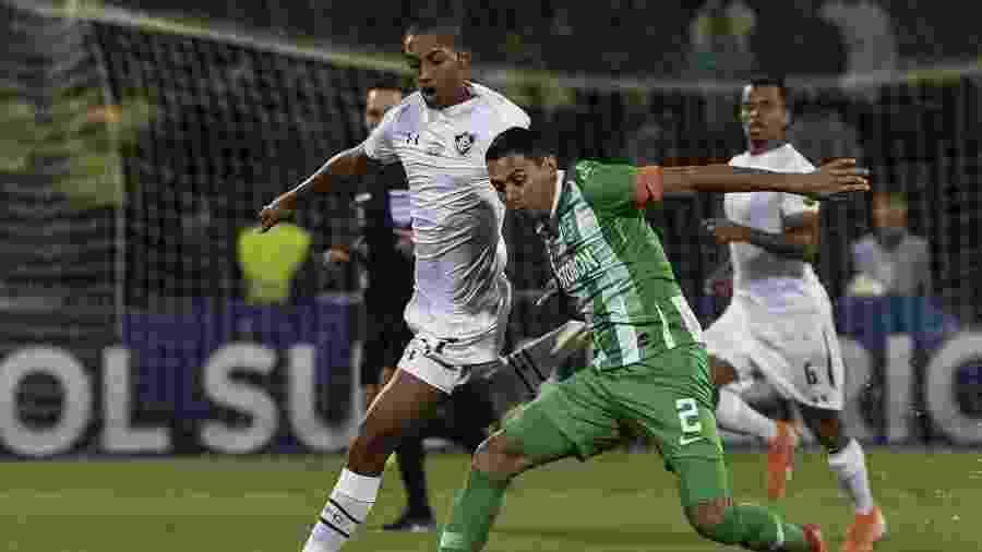 João Pedro, durante partida entre Fluminense e Atlético Nacional - JOAQUIN SARMIENTO / AFP