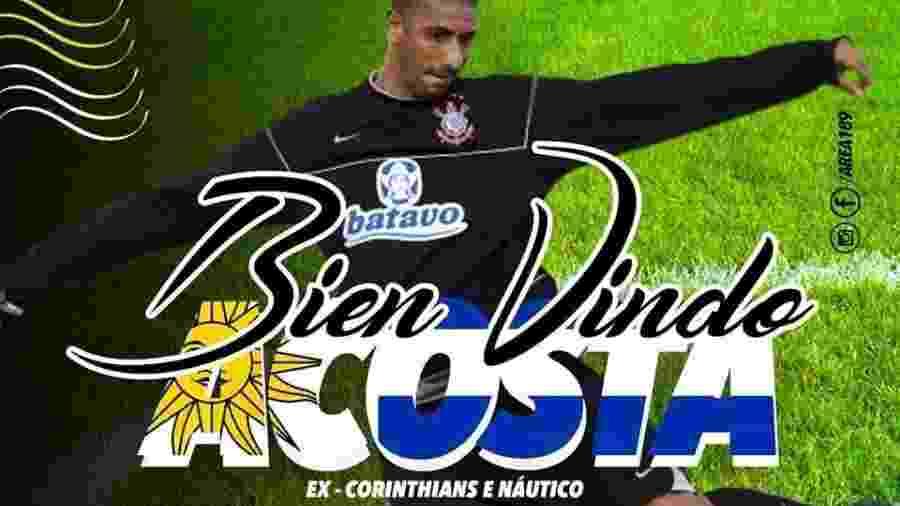 Acosta foi anunciado pelo Atlético Carioca, da quarta divisão do Rio de Janeiro - Reprodução
