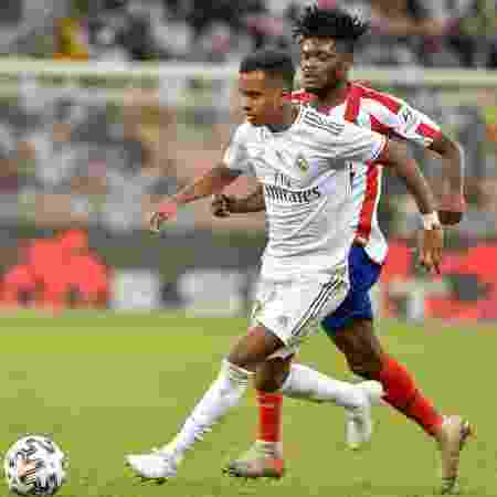 Rodrygo entrou durante a final e converteu pênalti para o Real Madrid - FAYEZ NURELDINE / AFP