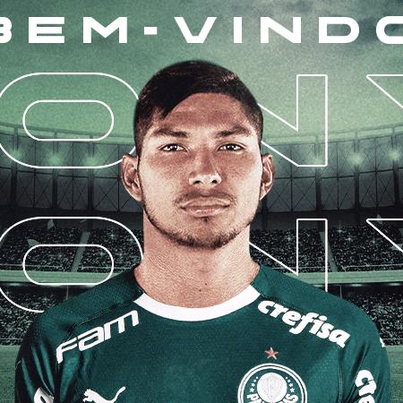 Atacante ex-Athletico foi confirmado hoje pelo Palmeiras - Divulgação