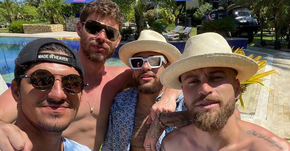 Gabriel Medina, Bruninho, Neymar e Lucas Lima