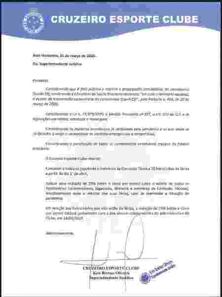 Cruzeiro comunica a jogadores e colaboradores corte de 25% nos salários - Divulgação - Divulgação
