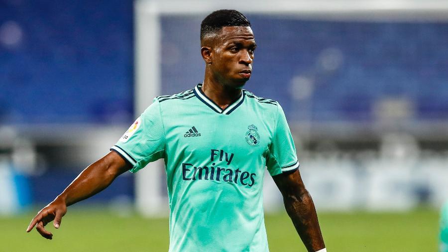 Vinícius Jr. jogou cerca de meia hora contra o Espanyol e hoje deve voltar a ser titular do Real - Xavier Bonilla/NurPhoto via Getty Images