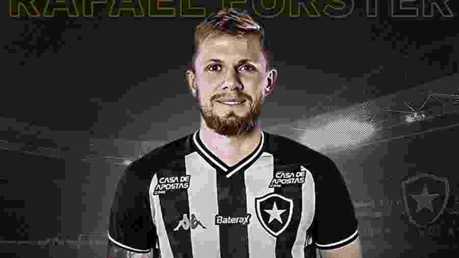 O Botafogo anunciou a contratação do zagueiro Rafael Forster na manhã de hoje - Reprodução