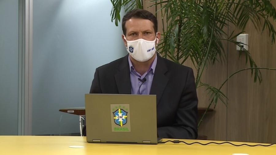 Gaciba admite erro na utilização do VAR em Atlético-MG x São Paulo - Reprodução/SporTV