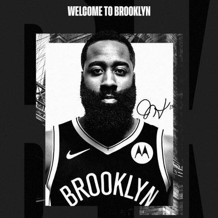 James Harden foi anunciado pelo Brooklyn Nets - Divulgação/Brooklyn Nets