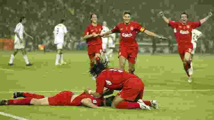 Liverpool na Liga dos Campeões de 2005 - Phil Noble - PA Images/PA Images via Getty Images - Phil Noble - PA Images/PA Images via Getty Images