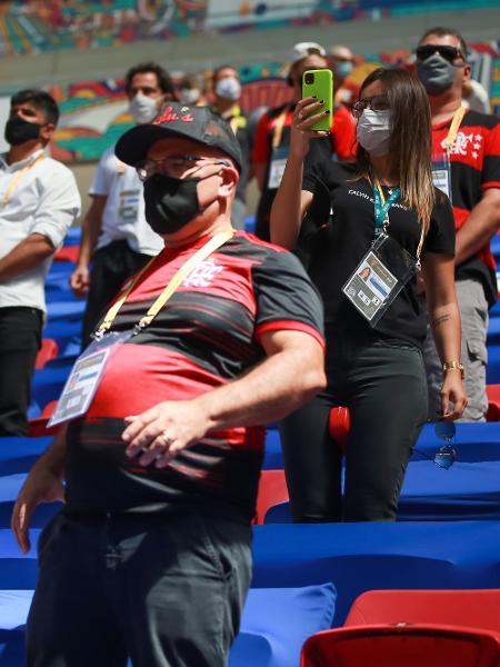 Supercopa do Brasil, entre Flamengo e Palmeiras, contou com público convidado pela CBF e por patrocinadores - Buda Mendes/Getty Images