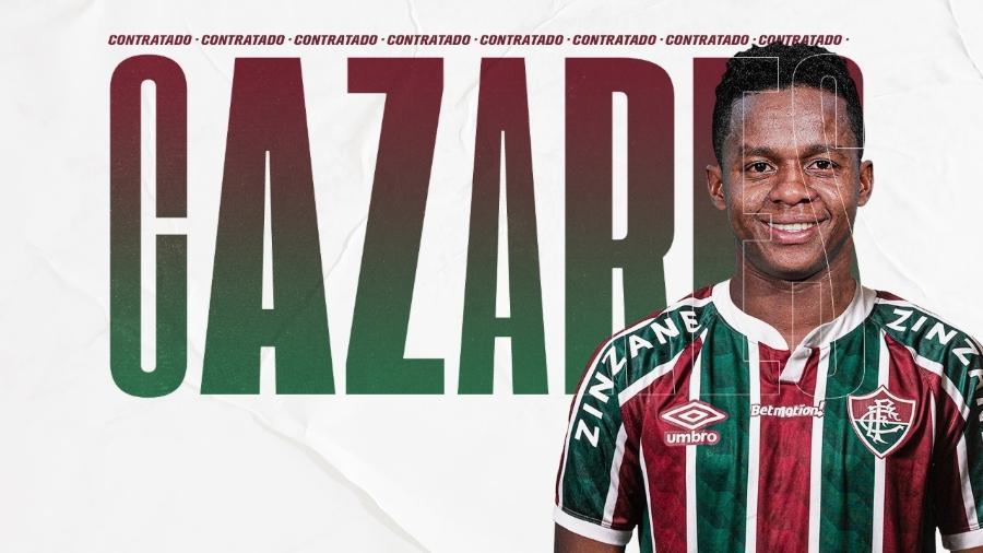 Cazares foi anunciado oficialmente pelo Fluminense pelas redes sociais do clube - Divulgação/Fluminense FC