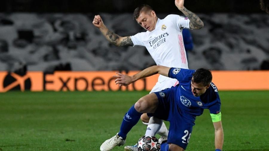 Real Madrid e Chelsea fazem o jogo de ida da semifinal da Liga dos Campeões - PIERRE-PHILIPPE MARCOU / AFP