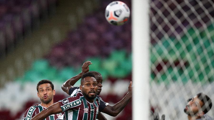 Fluminense de Luccas Claro teve números ruins na defesa e no ataque em derrota para o Junior-COL na Libertadores - Buda Mendes/Getty Images