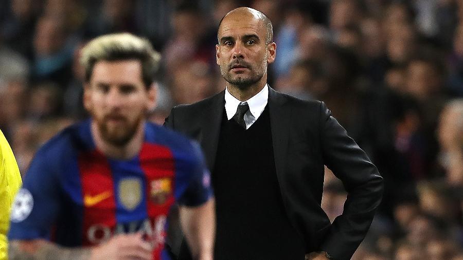 Em 2016, Messi fez três gols e deu uma assistência na vitória do Barcelona por 4 a 0 sobre o City de Guardiola - Matthew Ashton - AMA/Getty Images