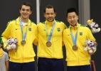 Brasileiro do tênis de mesa levou 26 pontos no braço antes de ganhar o ouro - Geoff Burke-USA TODAY Sports
