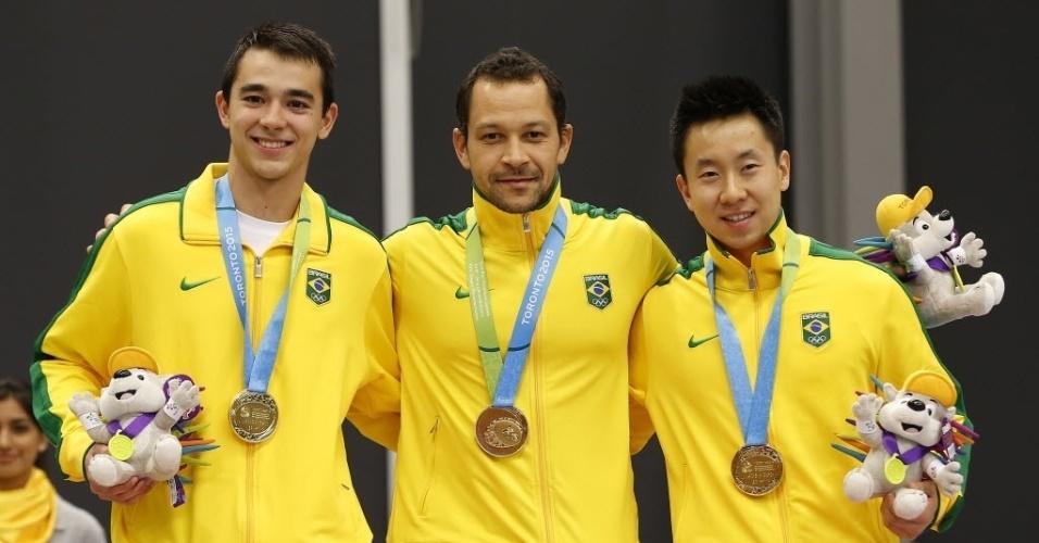 Hugo Calderano, Thiago Monteiro e Gustavo Tsuboi levaram medalha de ouro no tênis de mesa por equipe. Assim o Brasil chegou ao tricampeonato seguido dos Jogos Pan-Americanos