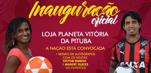 Vitória inaugura nova loja com sessão de autógrafos com Victor Ramos
