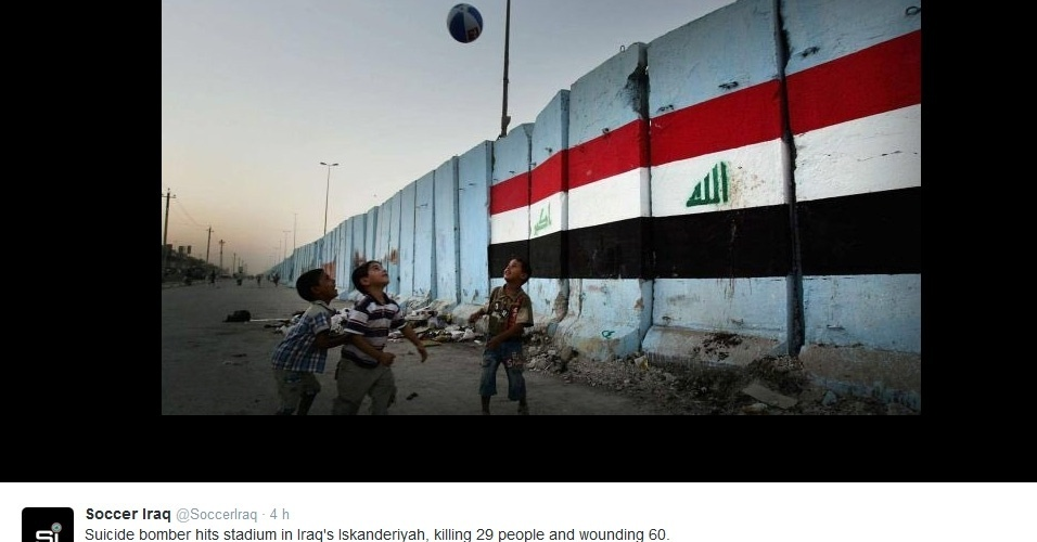 Atentado terrorista do Estado Islâmico em estádio de futebol deixa 29 mortos e 60 feridos no Iraque