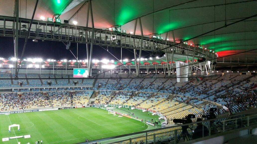 Maracanã não recebeu um grande público para Fluminense x Atlético-MG