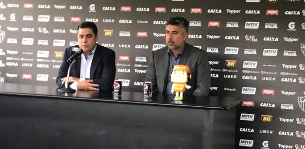 Presidente do Atlético-MG, Sérgio Sette Câmara, e o diretor de futebol, Alexandre Gallo, falaram sobre a saída de Oswaldo de Oliveira