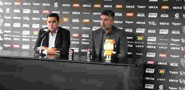 Sérgio Sette Câmara, presidente do Atlético-MG, e Alexandre Gallo, diretor de futebol, colhem frutos no Brasileirão - Victor Martins/UOL Esporte