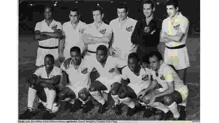 Equipe do Santos, que, posteriormente, foi campeã mundial de 1962  - Reprodução