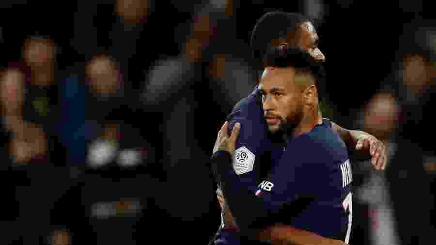 Neymar comemora gol do PSG contra o Angers - REUTERS/Christian Hartmann