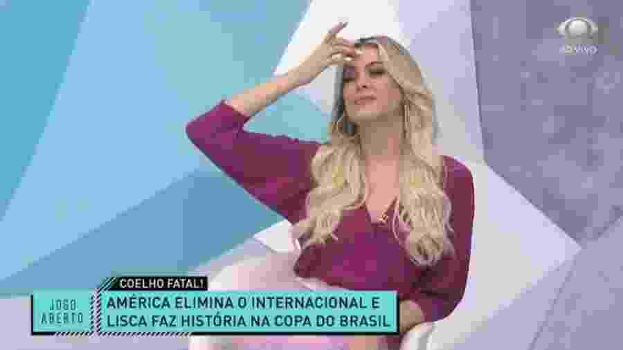 América-MG corneta Renata Fan após eliminar Inter da Copa do Brasil - Reprodução/Band
