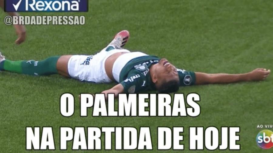 Classificação do Palmeiras gera chuva de memes nas redes sociais - Reprodução/Twitter/@br_dadepressao
