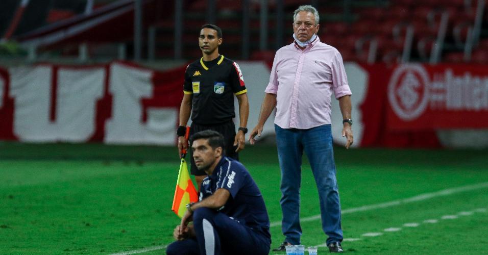 Abel Braga e Abel Ferreira, técnicos do Inter e do Palmeiras, respectivamente