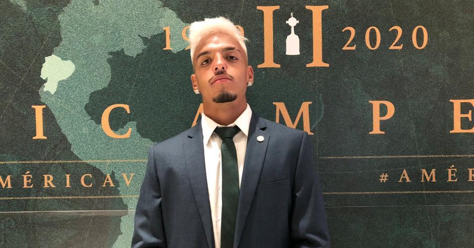 Palmeiras: Gabriel Menino embarcando para o Mundial de Clubes no Qatar