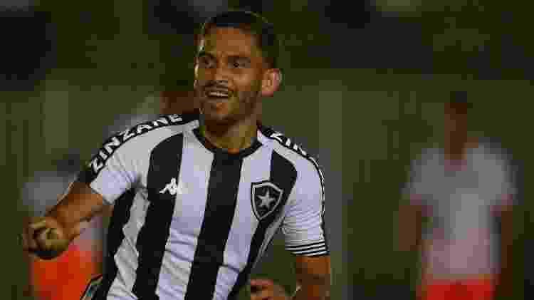 Marco Antônio celebra gol do Botafogo sobre o Nova Iguaçu - Vitor Silva/Botafogo - Vitor Silva/Botafogo