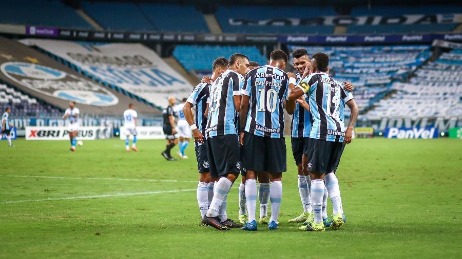 Clube gaúcho deve usar jogos da Sul-Americana para mudar time a partir do novo treinador - Lucas Uebel/Grêmio FBPA