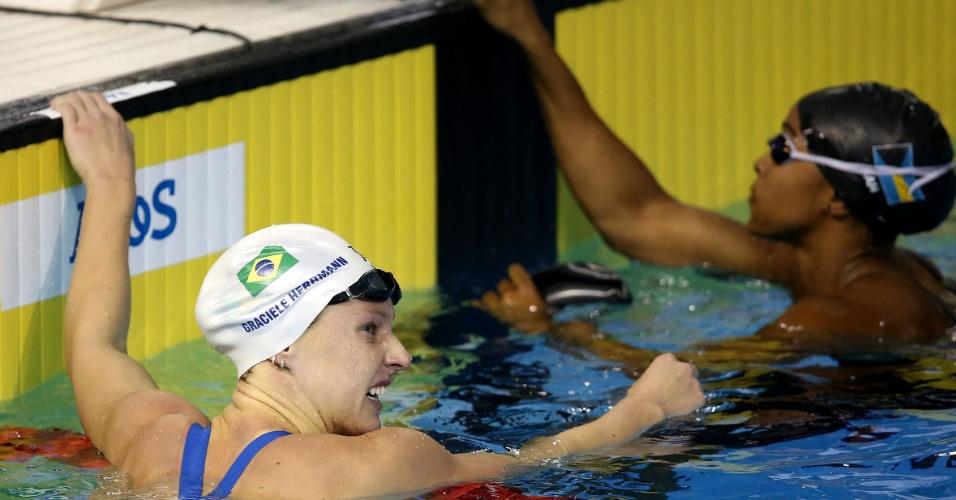 Assim como Larissa Martins, Graciele Herrmann (foto) também nadou as eliminatórias dos 100 m livre e se classificou para a final