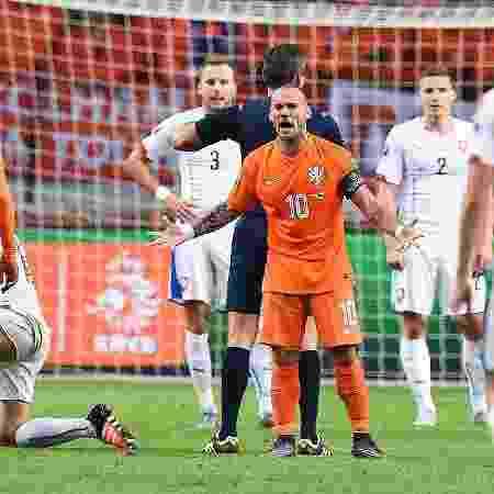 Sneijder disputou três Copas do Mundo com a camisa da Holanda - Emmanuel Dunand/AFP Photo