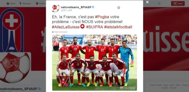 Provocação veio após problemas de Pogba em comemoração