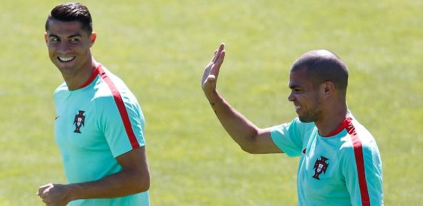 Pepe e Cristiano Ronaldo foram campeões dos dois torneios